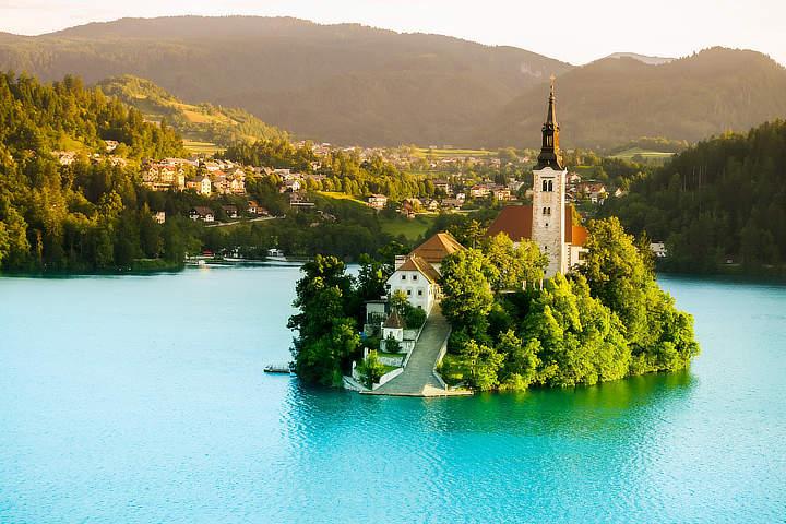 het meer van Bled Slovenië